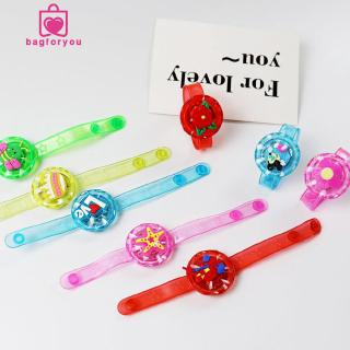 Bagforyou❀Useful Cute Kids Flash Wrist Band Cartoon Glitter Light Watch Glowing Bracelet Toy