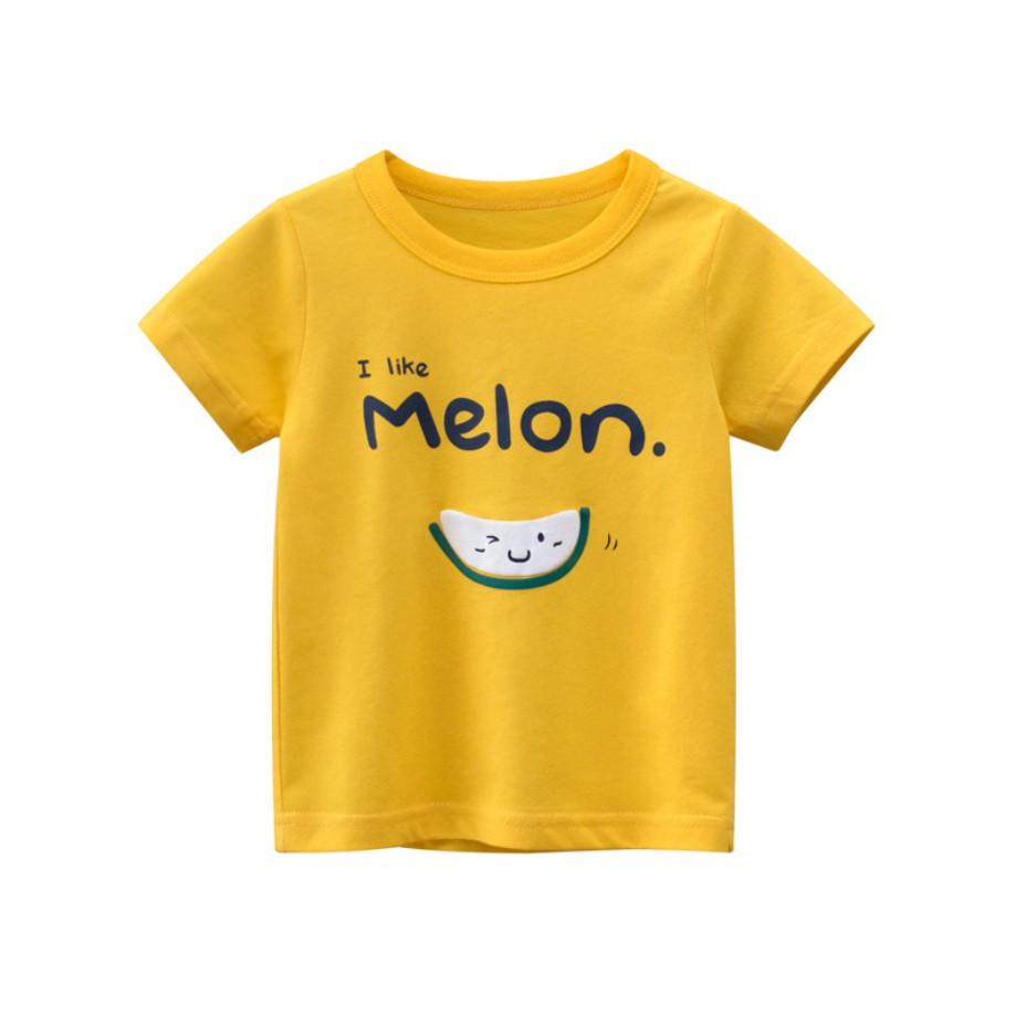 Áo thun bé gái NEW in hình FRUITS CUTE, chất liệu cotton thoáng mát cho da bé