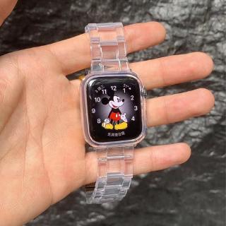 Dây Đeo Bằng Thép Không Gỉ Trong Suốt Cho Đồng Hồ Thông Minh Apple Watch 5 4 3 2 1 Kích Thước 38mm 40mm 42mm 44mm