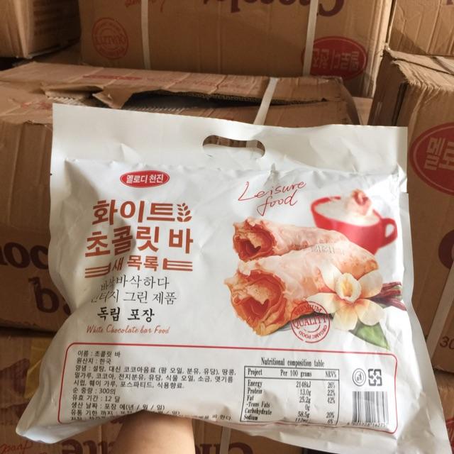Combo 12 gói bánh yến mạch phủ socola Hàn Quốc