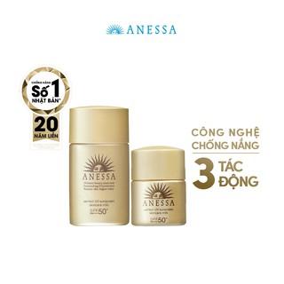 Bộ đôi kem chống nắng dưỡng da bảo vệ hoàn hảo Anessa Perfect UV Sunscreen Skincare Milk (20ml+12ml) thumbnail