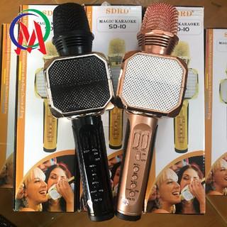 [Mã ELFLASH5 giảm 20K đơn 50K] [Siêu tiết kiệm] Micro karaoke SD10 âm chuẩn - BH 3 tháng