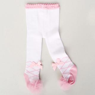 Quần tất đính nơ xinh xắn dành cho bé gái 0-24 tháng tuổi