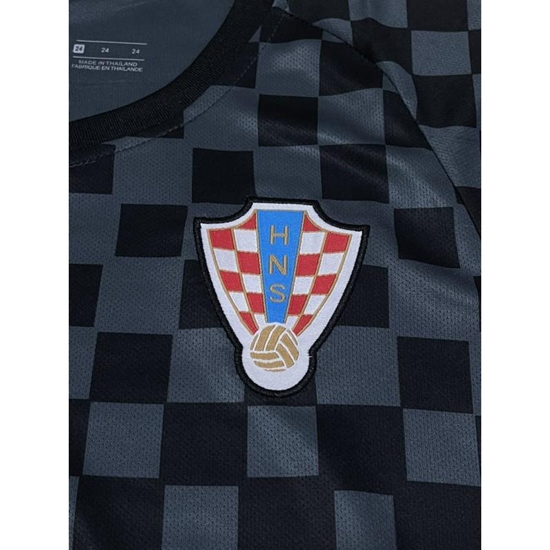 1 Bộ Áo Thun Đội Tuyển Croasia Away 19 / 20 Chất Lượng Cao Cho Bé