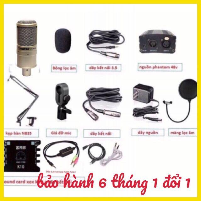 Combo mic thu âm livestream karaoke K200 K10 dây ma2 chân màng lọc - 2691345 , 1241052381 , 322_1241052381 , 1800000 , Combo-mic-thu-am-livestream-karaoke-K200-K10-day-ma2-chan-mang-loc-322_1241052381 , shopee.vn , Combo mic thu âm livestream karaoke K200 K10 dây ma2 chân màng lọc