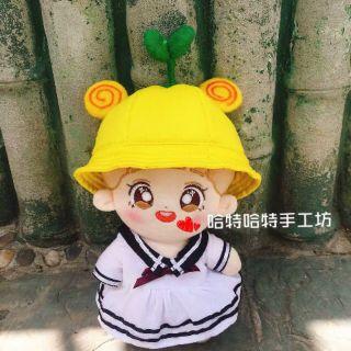 Mũ mầm cho doll tặng dán má