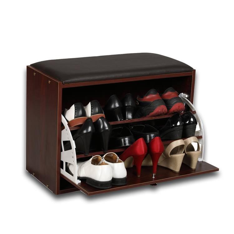 Tủ giày thông minh bằng gỗ SMHome (màu nâu)