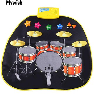 👶🏼Baby Jazz Drums Musical Play Mat Rug Multiuse Music Educational Toy Gift