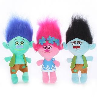 35CM 23CM Anime Trolls Plush Toy Poppy Branch Magic Fairy Hair Wizard Troll Dolls Soft Stuffed Toys Boys Girls Gift