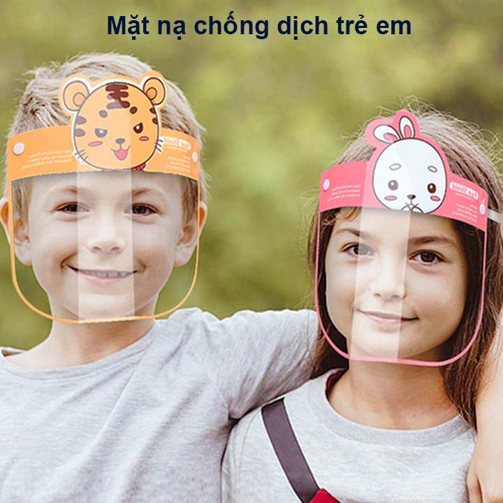 Kính chống giọt bắn cho bé, Kính chống dịch Face shield cho bé 1-10 tuổi đệm mút xốp an toàn...