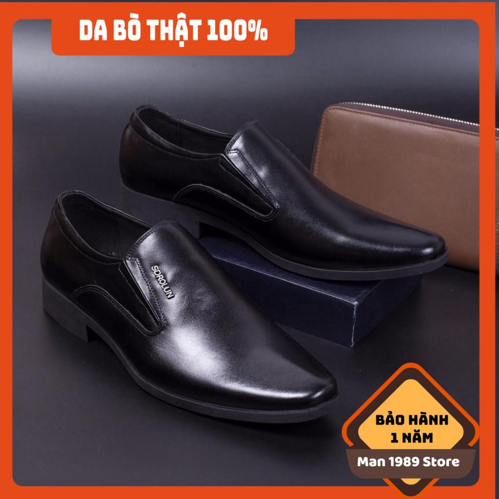 [FREESHIP - DA THẬT] -  Giày da nam màu đen siêu đẹp - Giày nam cao cấp cho dân công sở - GDSH82