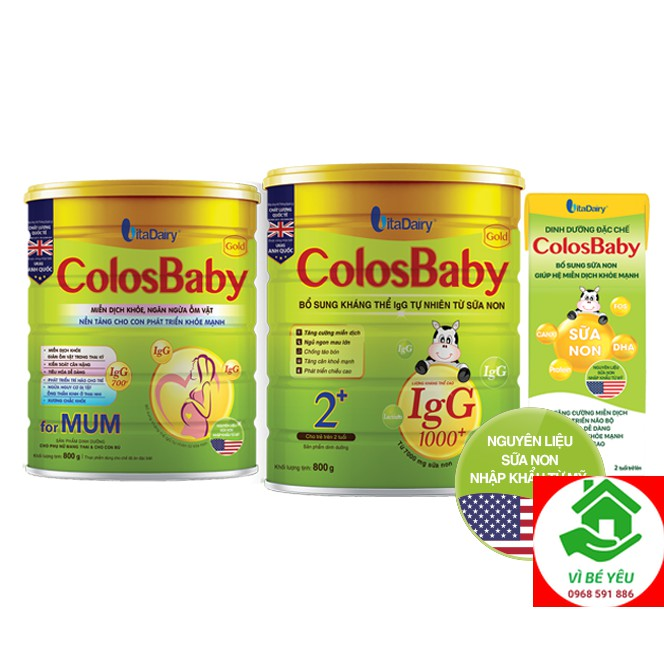 Sữa bột COLOSBABY GOLD 1000IgG 2 800G #4