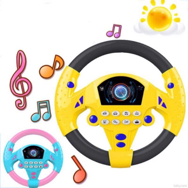 Vô lăng tập lái xe cho bé có phát nhạc