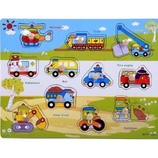 Bảng phương tiện giao thông núm gỗ