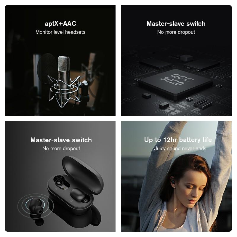 Tai nghe nhét trong Haylou kết nối không dây Bluetooth 5.0 GT1 PLUS Qualcomm QCC3020 - 310mAh | Shopee Việt Nam