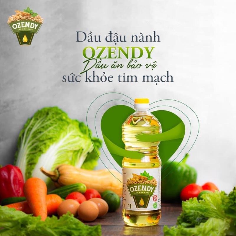 Dầu đậu nành Ozendy 1 lít KHÔNG BIẾN ĐỔI GEN