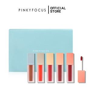 Bộ 5 son môi Pudaier Pinkyfocus màu nhung chống thấm nước thumbnail