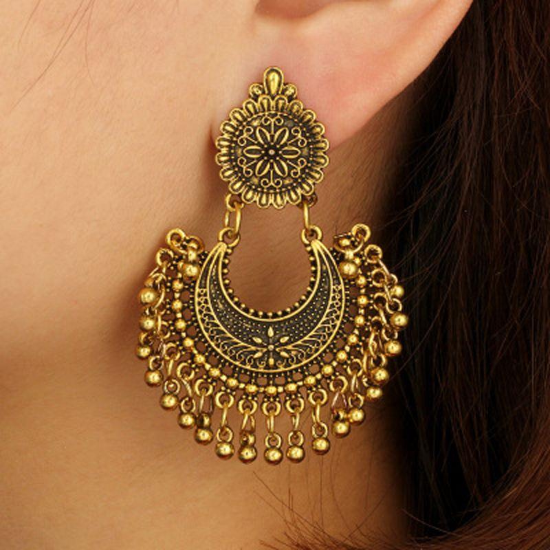 Women Earring Tassel Jhumka Ethnic Bollywood Dangle Earrings Jewelry - 13937160 , 2474663499 , 322_2474663499 , 36582 , Women-Earring-Tassel-Jhumka-Ethnic-Bollywood-Dangle-Earrings-Jewelry-322_2474663499 , shopee.vn , Women Earring Tassel Jhumka Ethnic Bollywood Dangle Earrings Jewelry