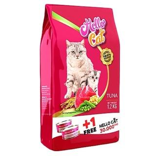 THHẠT CHO MÈO VỊ CÁ NGỪ 1.2KG HELLO CAT TẶNG KÈM 1LON PATE HELL thumbnail