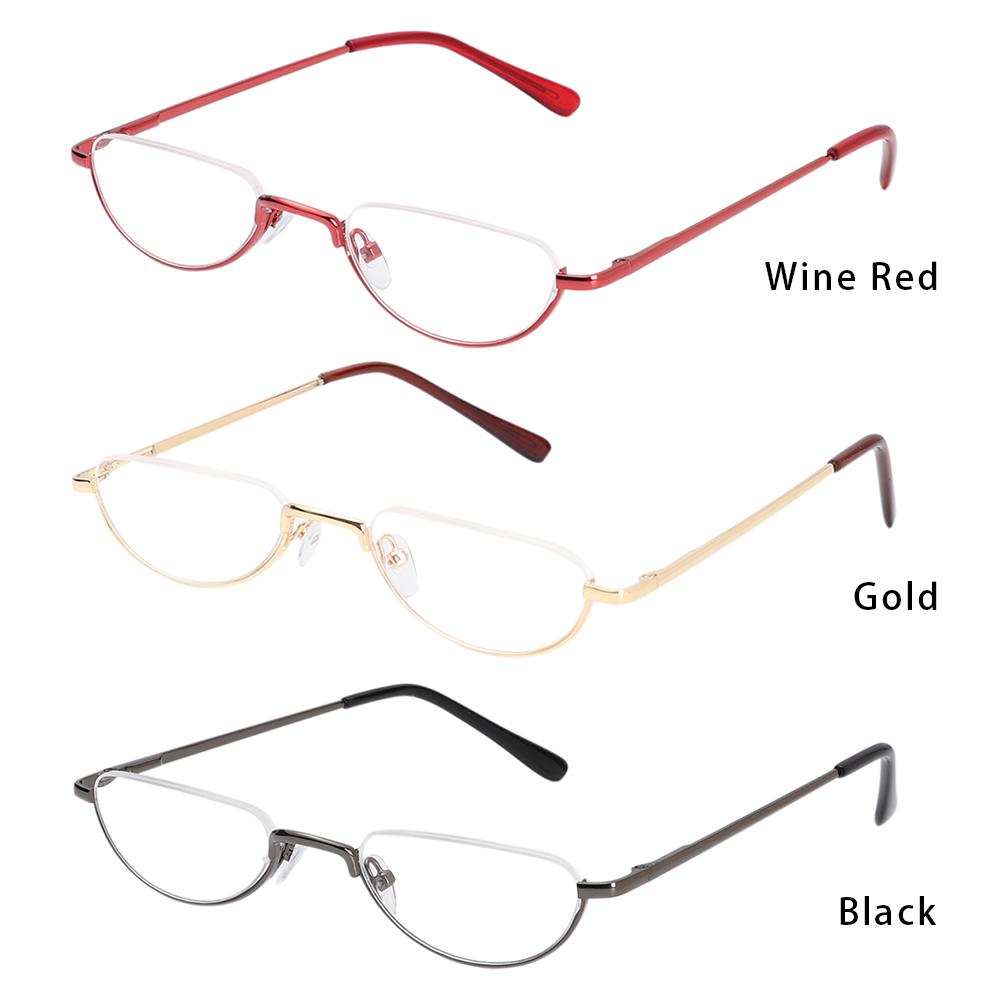 ROW Unisex Reading Glasses Magnifying +1.00~+4.0 Diopter Eyeglasses Flexible Portable New Fashion Ultra Light Resin Eye wear Spring Hinge Metal...