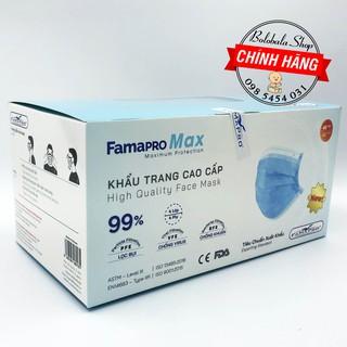 Khẩu trang y tế kháng khuẩn 4 lớp cao cấp FAMAPRO MAX, hộp 40 cái chính hãng công ty Nam Anh thumbnail