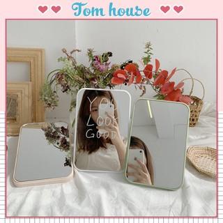 Gương trang điểm để bàn chữ nhật nhựa ABS Tom House