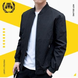 Men's Fashion Sun Protection Jacket Korean Business Slim Jacket Size M-4Xl