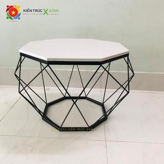 Bàn sofa, bàn trà kim cương [GIÁ XƯỞNG], sơn tĩnh điện, mặt đá dày 14mm