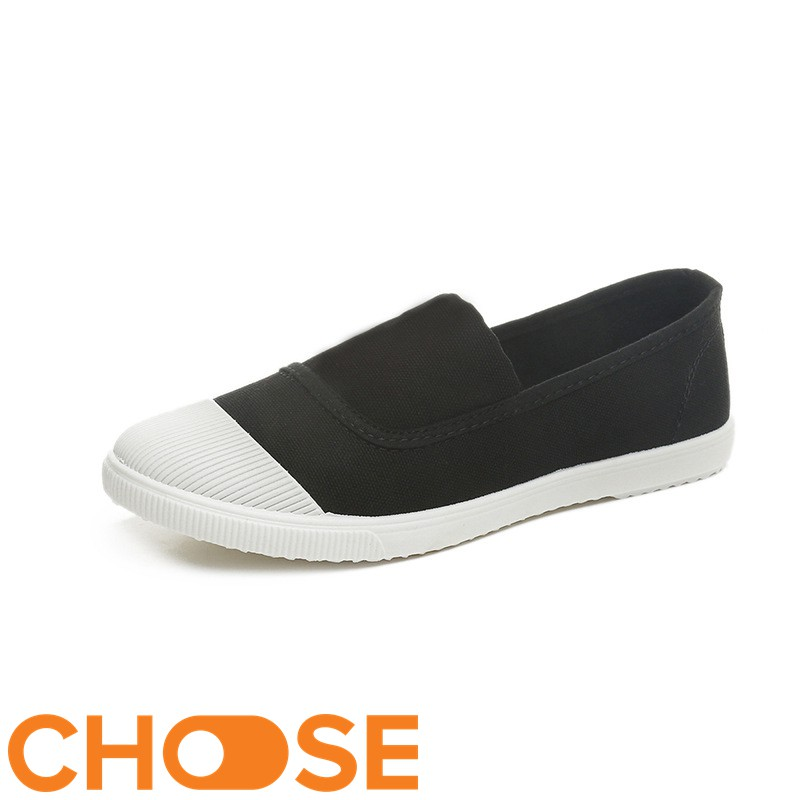 [Mã FASHIONGREEN44 giảm 10K đơn 50K] Giày Nữ Choose Vải Slipon Gía Rẻ Sinh Viên Thời Trang Dạo Phố GK1K1