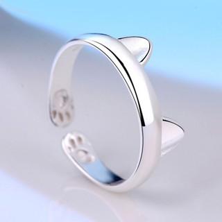 Nhẫn bạc tạo hình tai mèo dễ thương cho nữ thumbnail