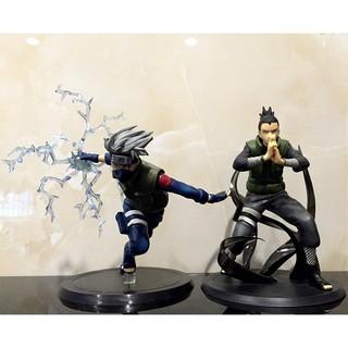2 mô hình Naruto Nara Shikamaru & Hatake Kakashi 16cm/6″ PVC