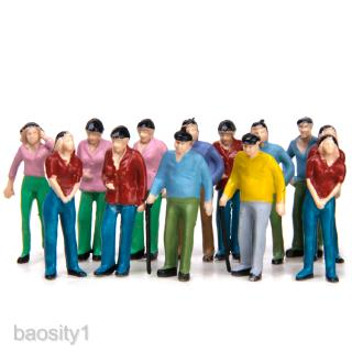 Pack of 50 People Figures, Standing Sitting People Assorted Dollhouse Miniature Accessories