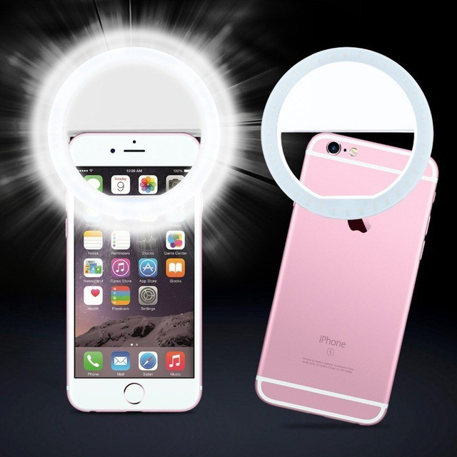 combo 10 Đèn selfie Ring light cho điện thoại TẶNG KÈM DÂY SẠC hàng chuẩn
