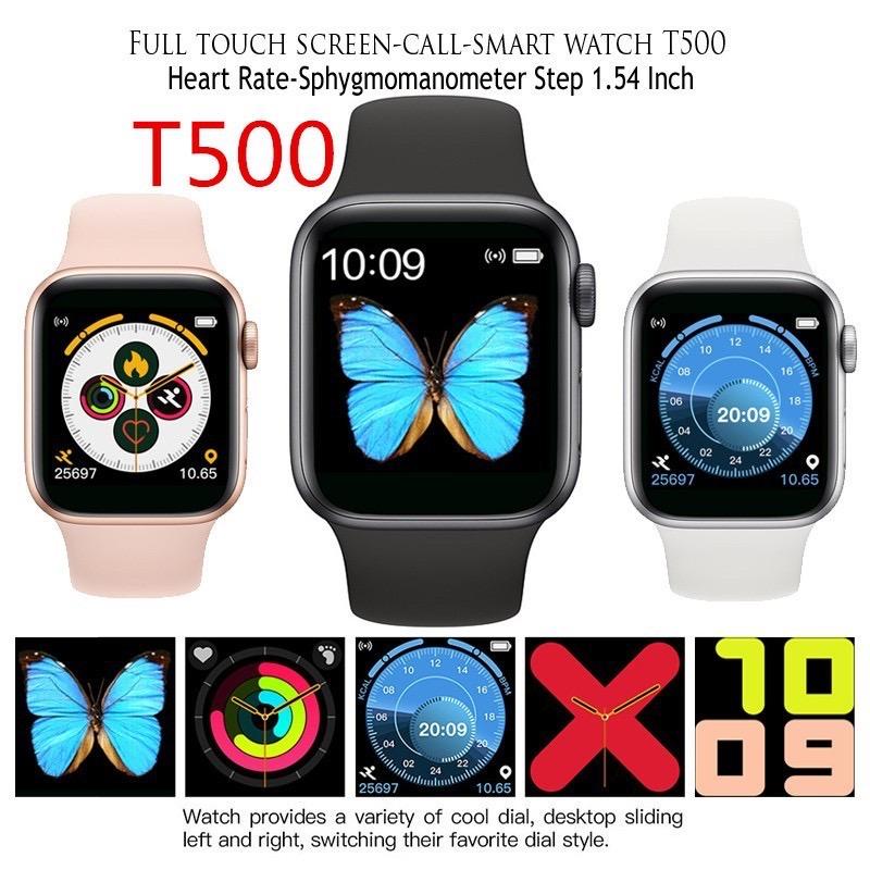 [Mã ELFLASH11 hoàn xu 10K đơn 20K] Đồng hồ thông minh T500 đeo tay Seri 5 44mm chống nước IP67 đa năng