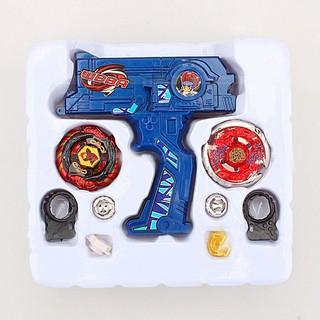 4D Launcher Grip Spinning Top Set – Blue