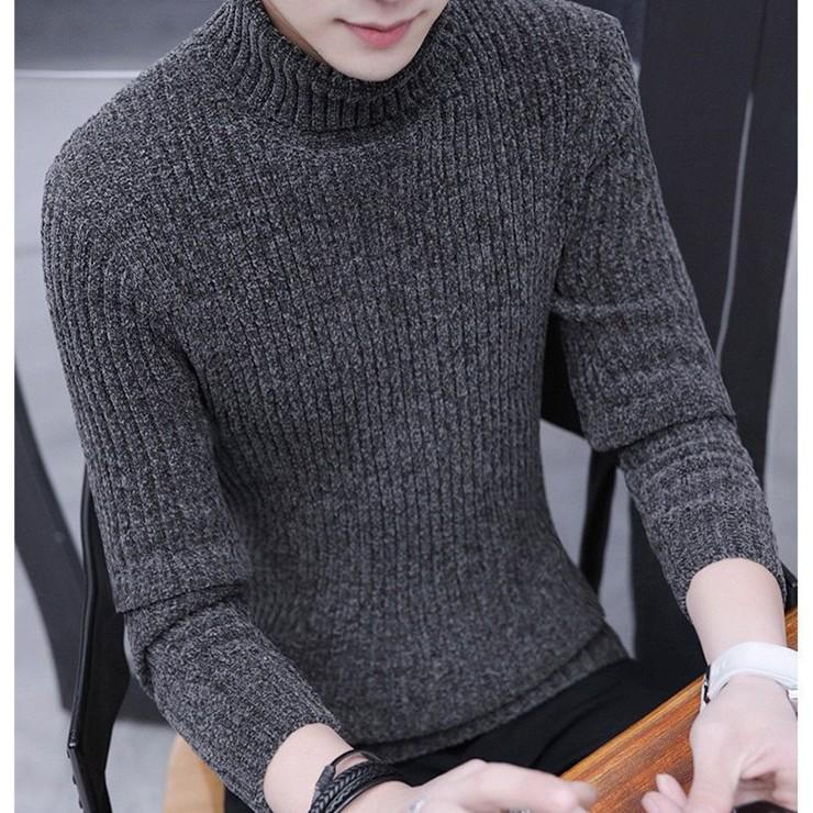 áo len cổ lọ nam tính