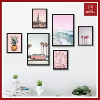 [ GIÁ SỈ TẬN GỐC ] SET 6 Tranh Treo Tường màu hồng siêu xinh