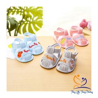 [Đế kép] Dép tập đi cho bé bằng vải đế cao su mềm chống trượt DK0100P thumbnail