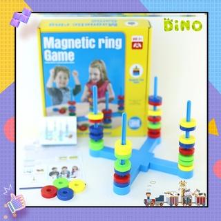 Đồ chơi tư duy ghép vòng nam châm, Magnetic Ring Game đồ chơi giáo dục cho trẻ em DINO thumbnail