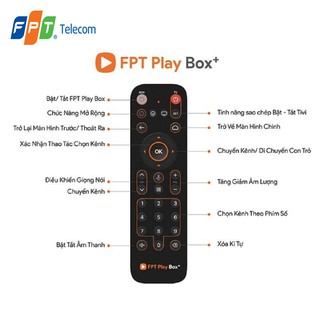 Điều Khiển Remote voice FPT Play Box Sử Dụng Giọng Nói Dùng Cho Box 2018 19 20 21 - Chính hãng