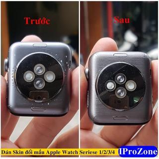 Dán Skin mầu cho Apple Watch Series 1 , 2 , 3 ,4 Phục hồi máy xước ( Dán cực dễ )