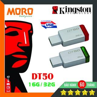 [Mã ELFLASH5 giảm 20K đơn 50K] USB Kingston DataTraveler DT50 -- 16GB - 32GB - Vỏ nhôm nguyên khối - Bảo hành 5 năm