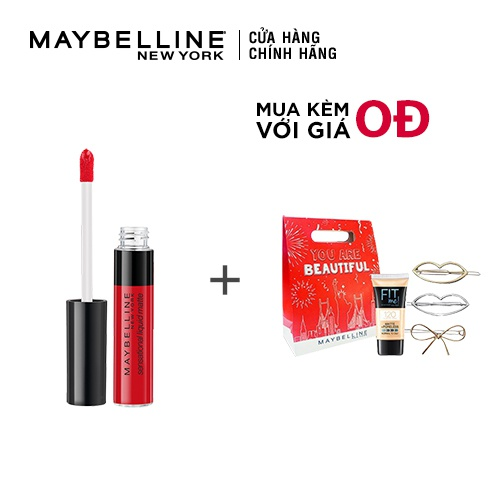 [COSMALL05 -8% ĐH250k]Son Kem Lì Nhẹ Môi Maybelline New York Sensational Liquid Matte Lipstick 7ml