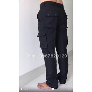 Quần túi hộp bảo vệ cơ động mầu đen