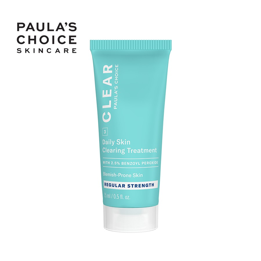Kem giảm mụn Paula's Choice Clear Regular Strength Daily Skin Clearing Treatment 2,5% Benzoyl Peroxide 15ml Mã: 6107