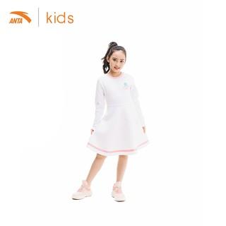 Váy liền dài tay bé gái Anta Kids 362017382-1