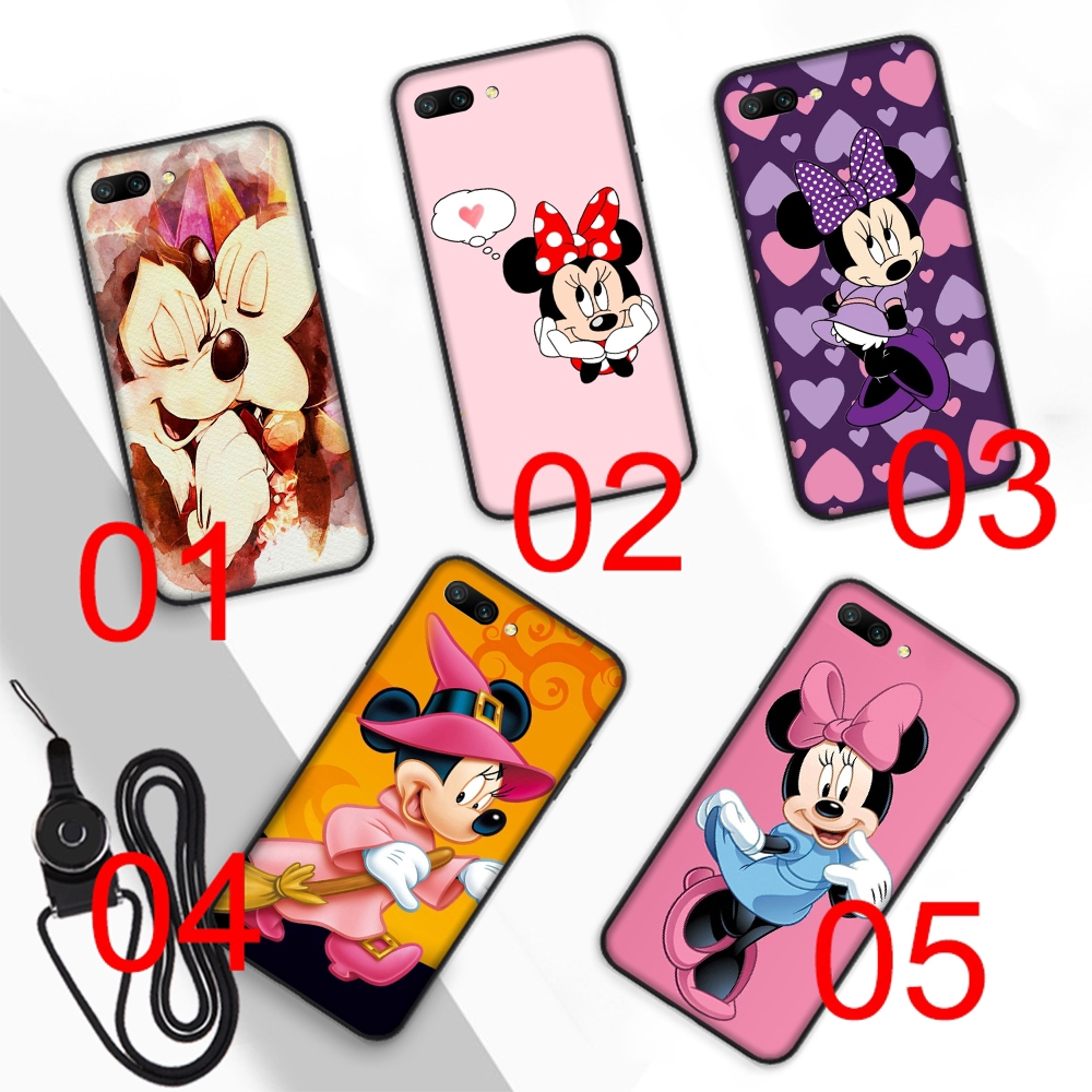 Minnie mouse Soft Case Huawei Honor 8 Lite 8X 7X 8C 7C 6A 7A Pro 3GB