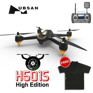 Flycam Hubsan H501S-Phiên bản cao cấp 1080P camera GPS RTH màu đen