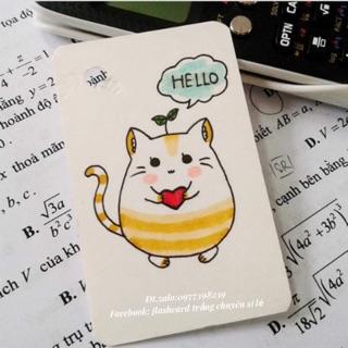 Flashcard Anh Nhật Hàn Trung Pháp Đức Tập vẽ khổ nhỏ 5x8cm tặng kèm khoen và bìa