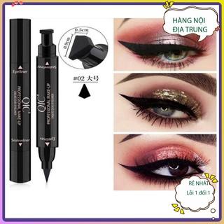 Bút kẻ mắt 2 đầu tiện lợi siêu hot Qic Bút kẻ viền mắt đầu nhỏ không lem ,không trôi ,dễ dịnh hình dễ sử dụng trang điểm